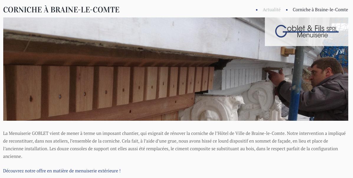 Menuiserie Goblet article Julien Corniche
