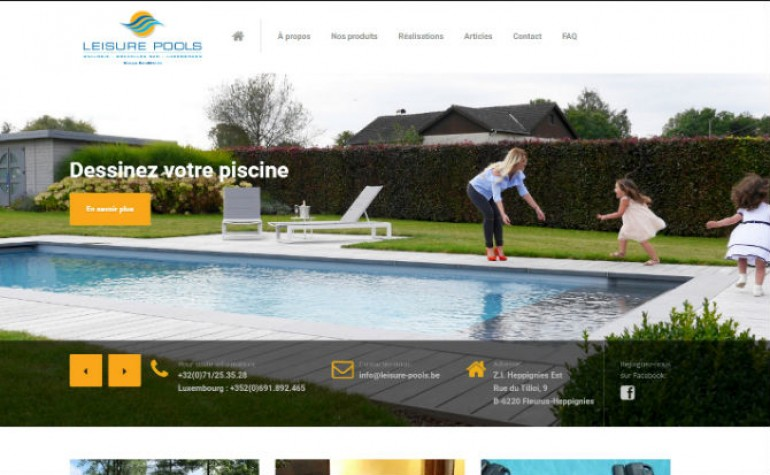 leisure pools piscine coque belgique luxembourg