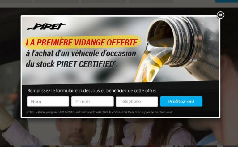 pop up piret certifed premire vidange ok